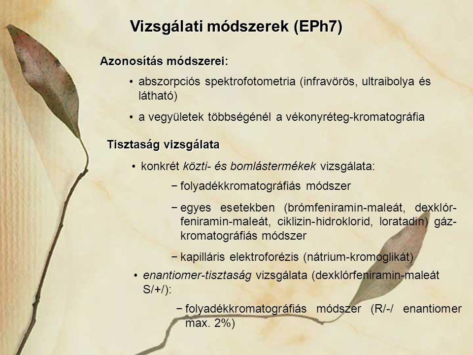 Vizsgálati módszerek (EPh7)