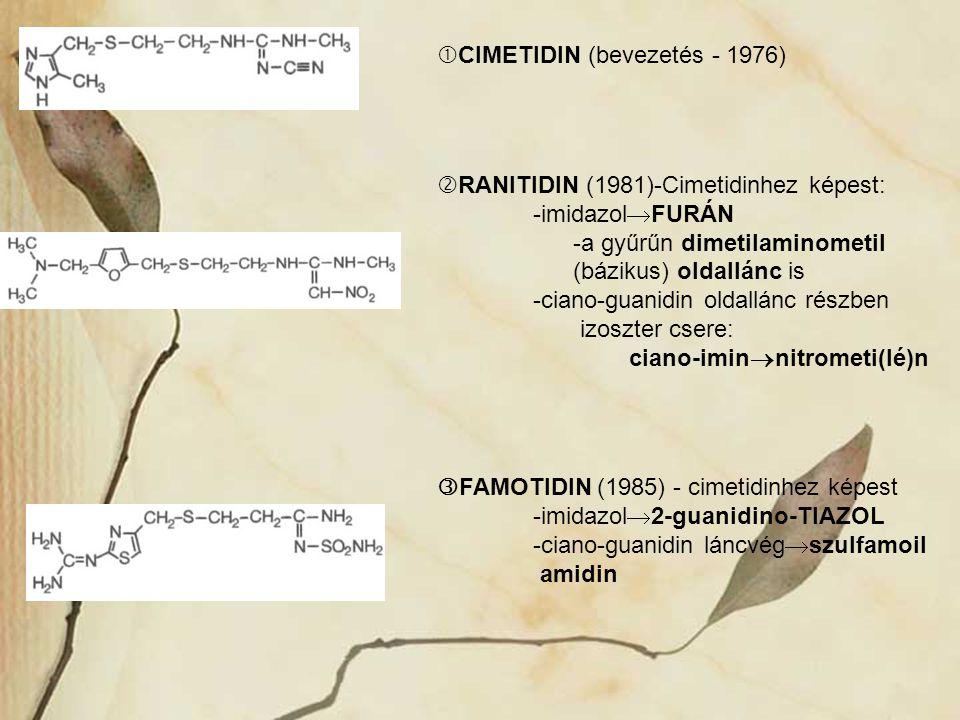 CIMETIDIN (bevezetés - 1976)