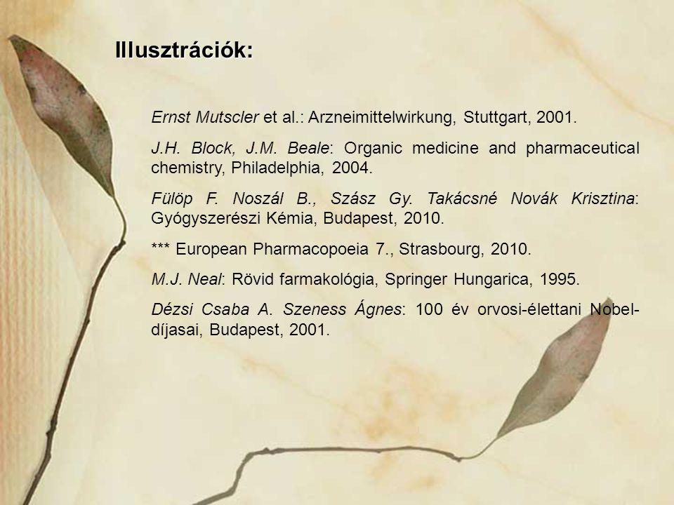 Illusztrációk: Ernst Mutscler et al.: Arzneimittelwirkung, Stuttgart, 2001.