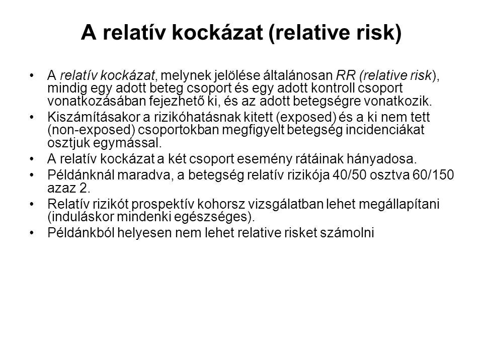 A relatív kockázat (relative risk)