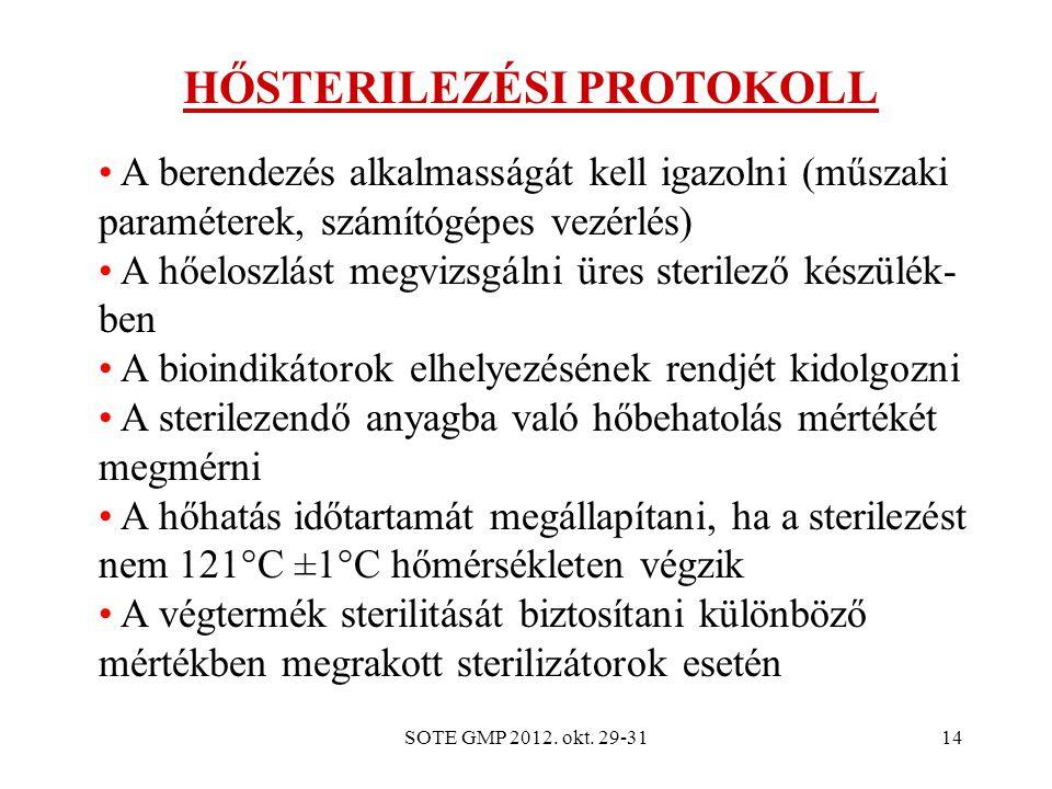 HŐSTERILEZÉSI PROTOKOLL