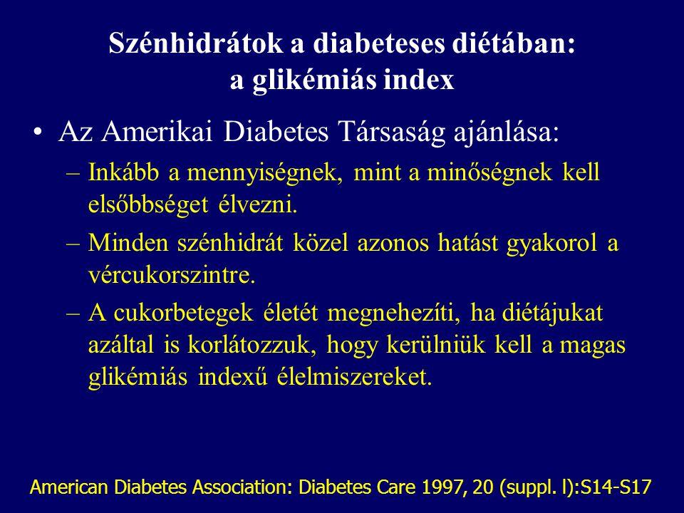 Szénhidrátok a diabeteses diétában: a glikémiás index