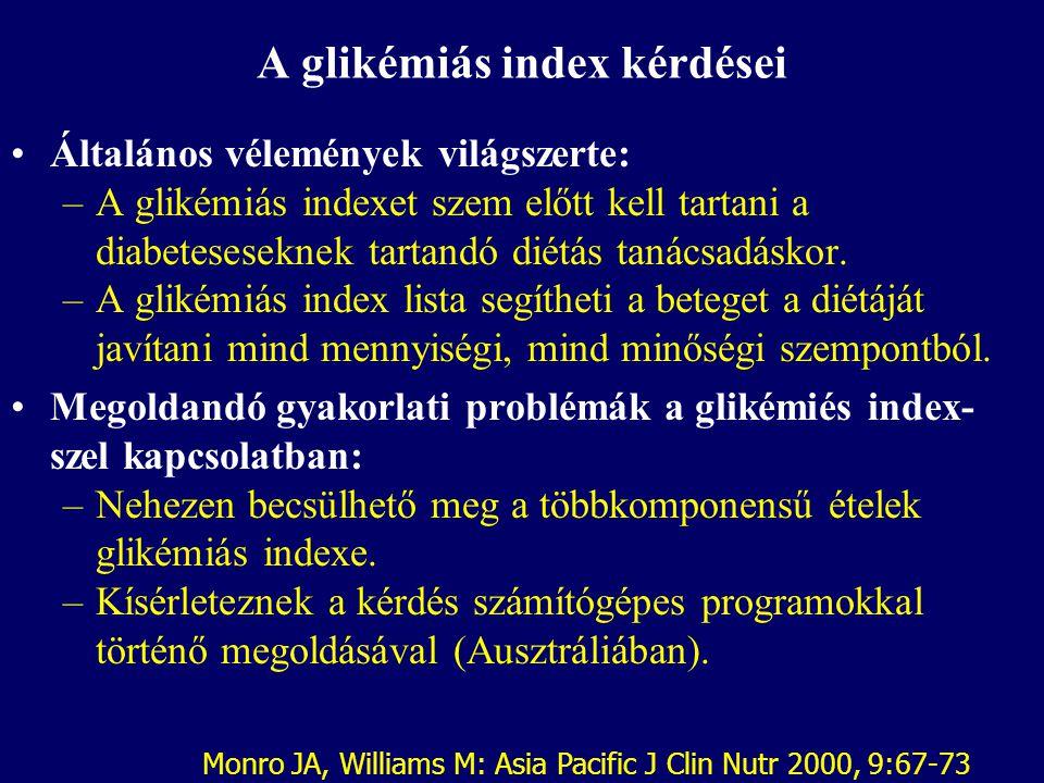 A glikémiás index kérdései