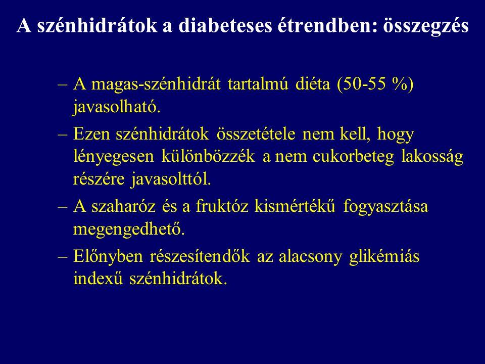 A szénhidrátok a diabeteses étrendben: összegzés