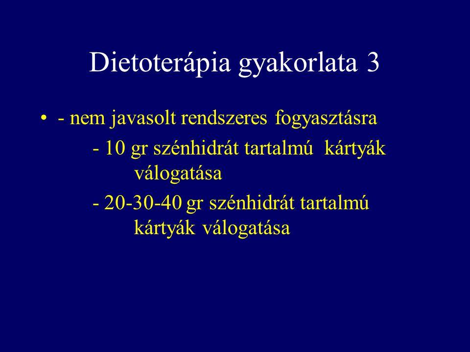 Dietoterápia gyakorlata 3