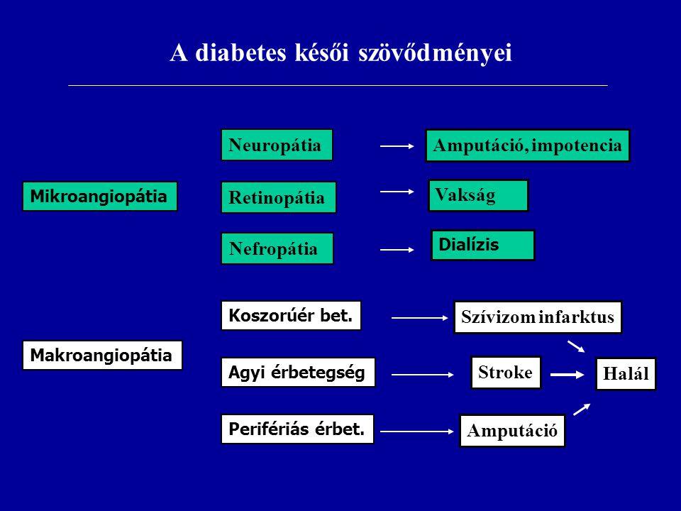 A diabetes késői szövődményei