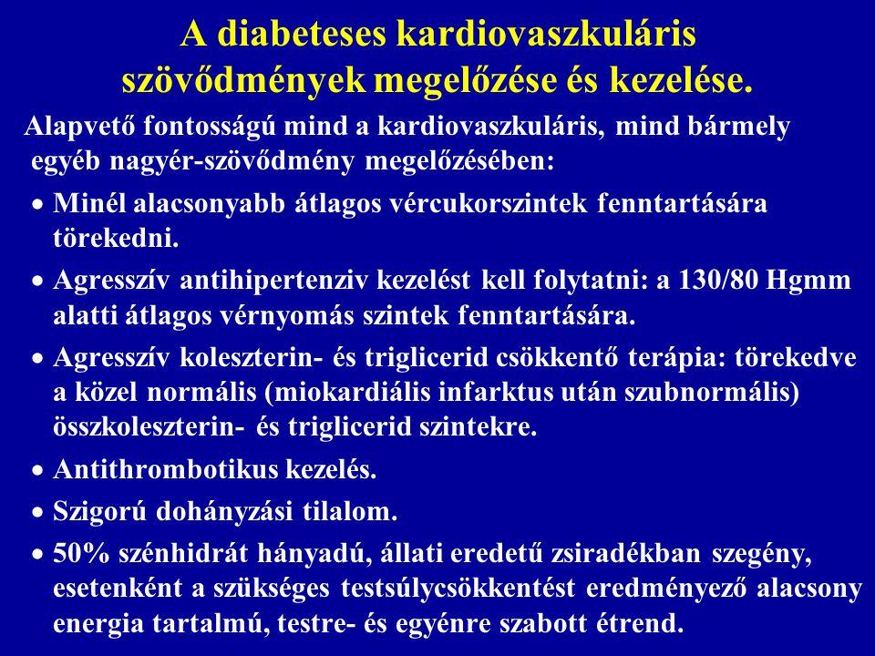 A diabeteses kardiovaszkuláris szövődmények megelőzése és kezelése.