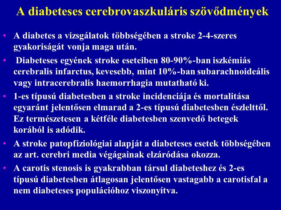 A diabeteses cerebrovaszkuláris szövődmények
