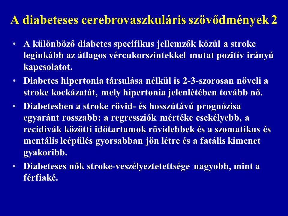 A diabeteses cerebrovaszkuláris szövődmények 2