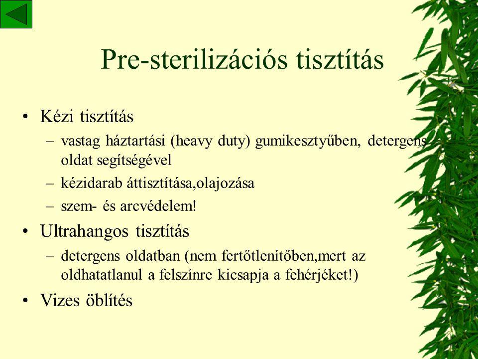 Pre-sterilizációs tisztítás