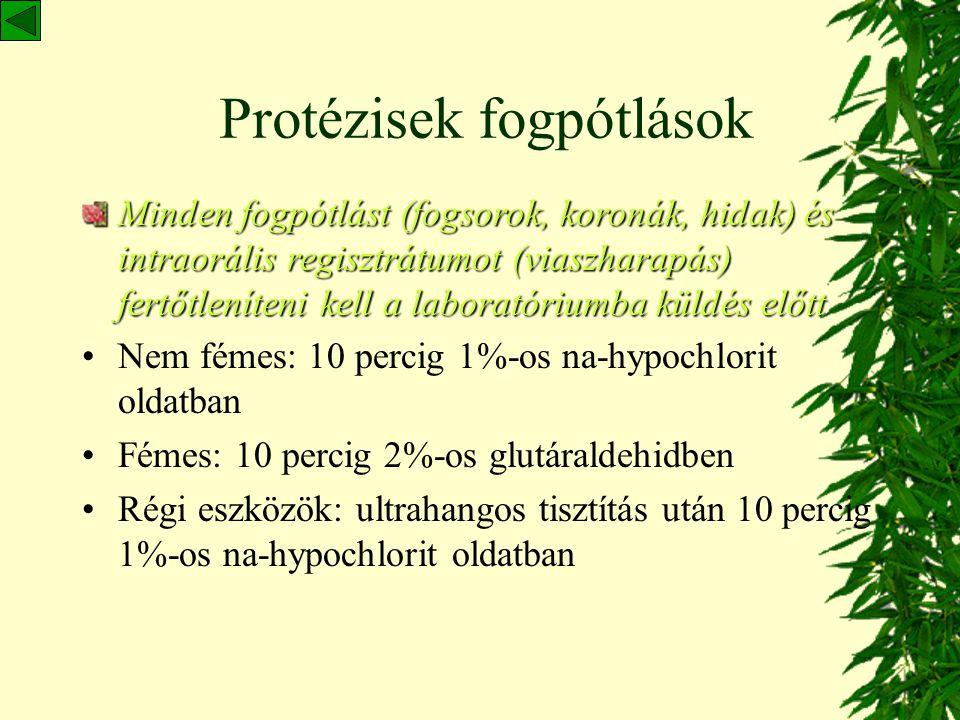 Protézisek fogpótlások