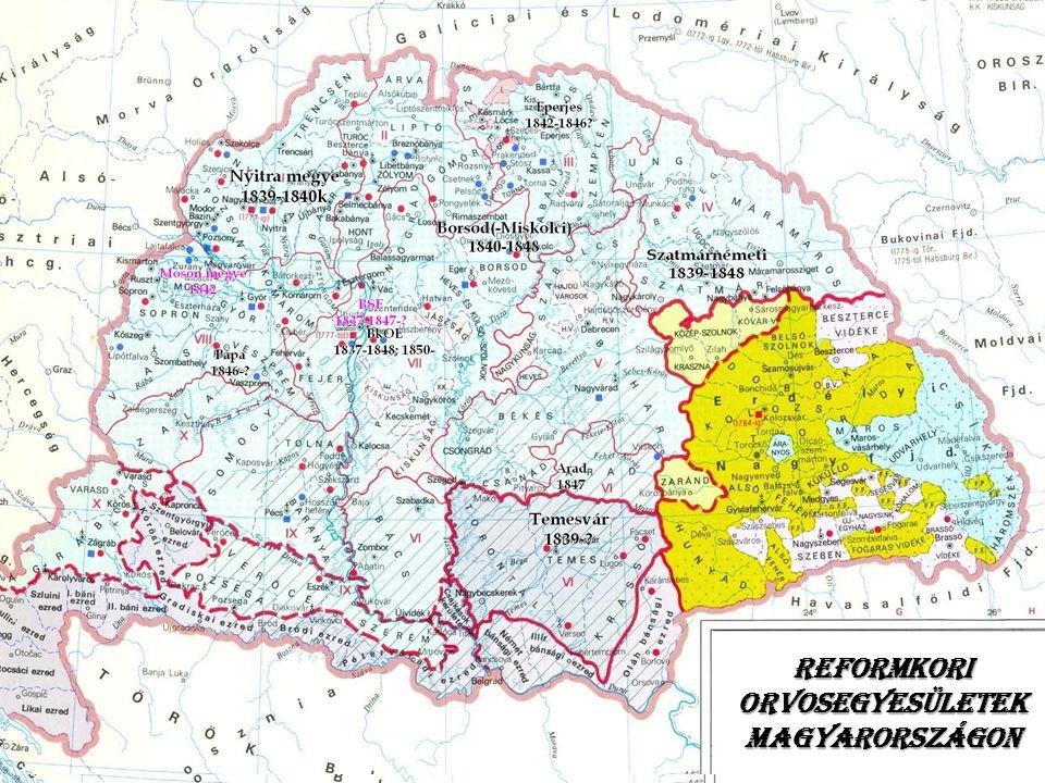Reformkori orvosegyesületek Magyarországon