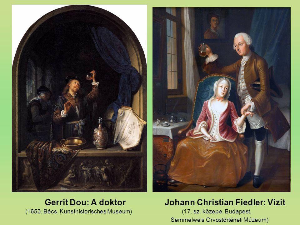 Gerrit Dou: A doktor Johann Christian Fiedler: Vizit