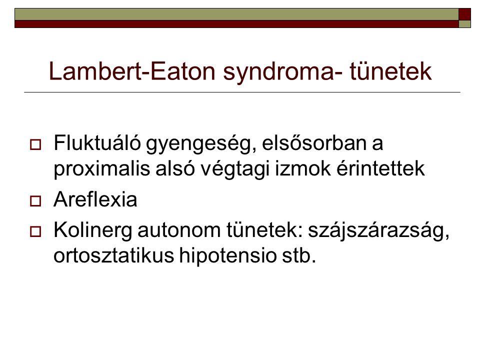 Lambert-Eaton syndroma- tünetek
