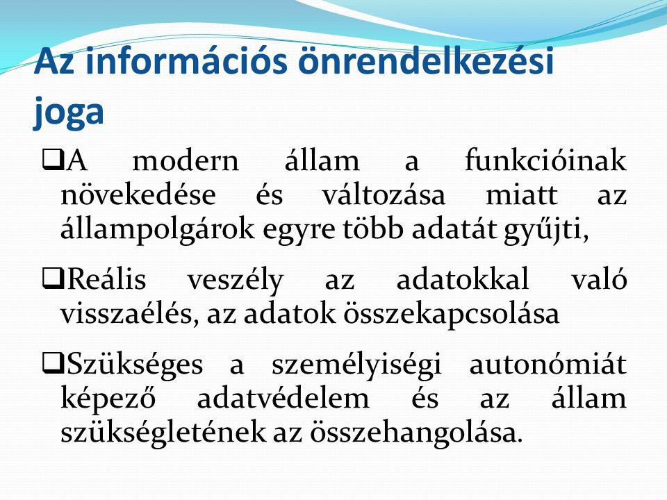 Az információs önrendelkezési joga