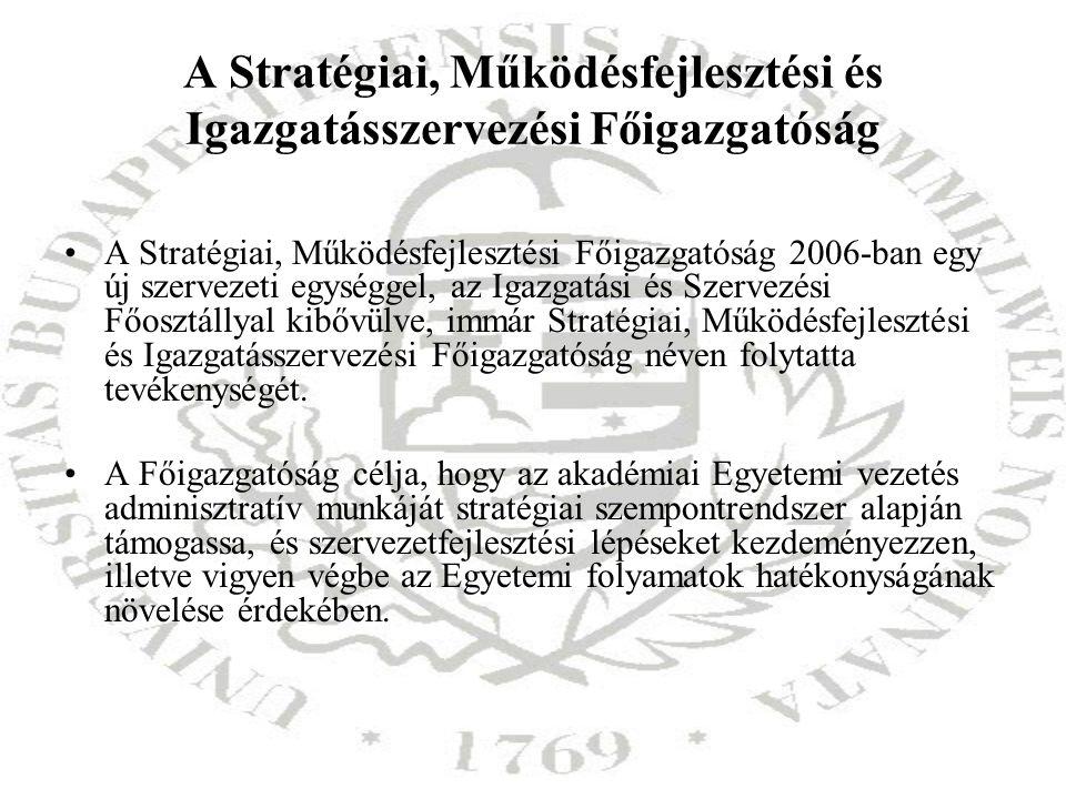 A Stratégiai, Működésfejlesztési és Igazgatásszervezési Főigazgatóság