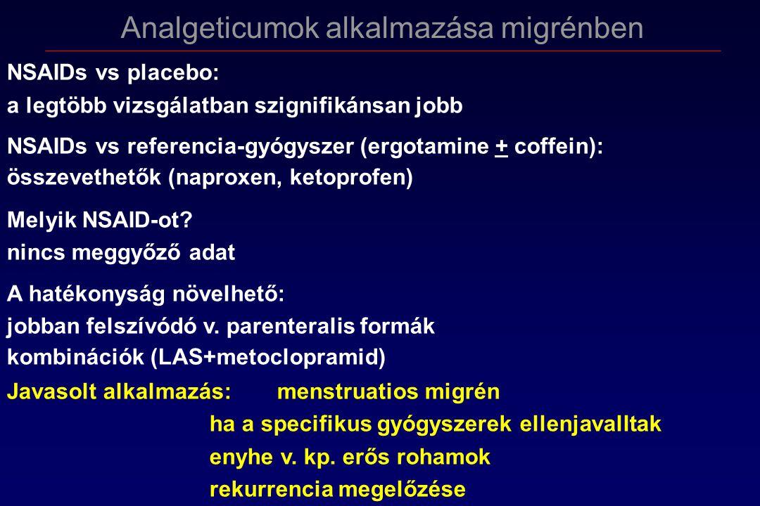 Analgeticumok alkalmazása migrénben