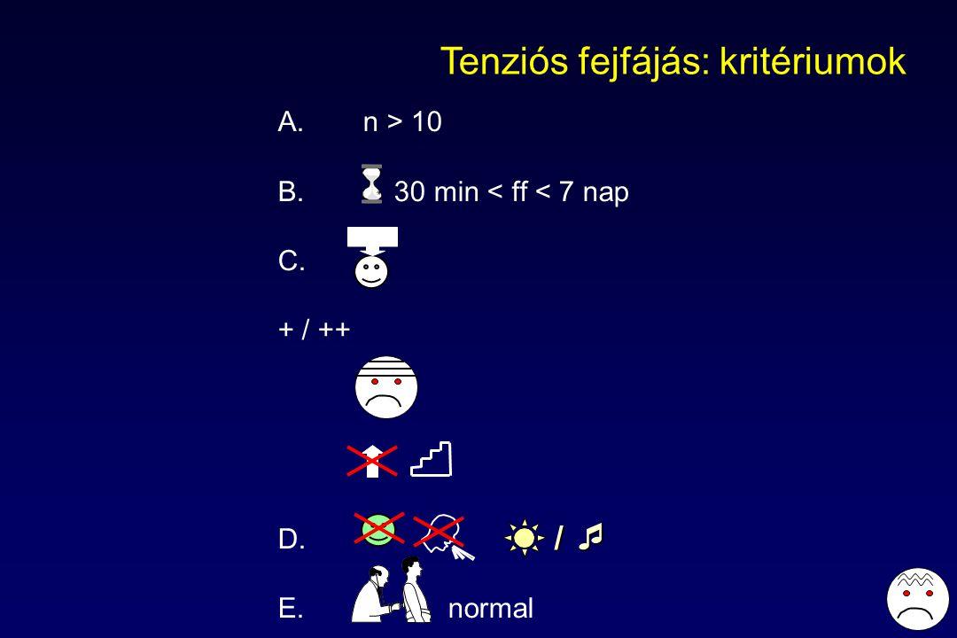 Tenziós fejfájás: kritériumok