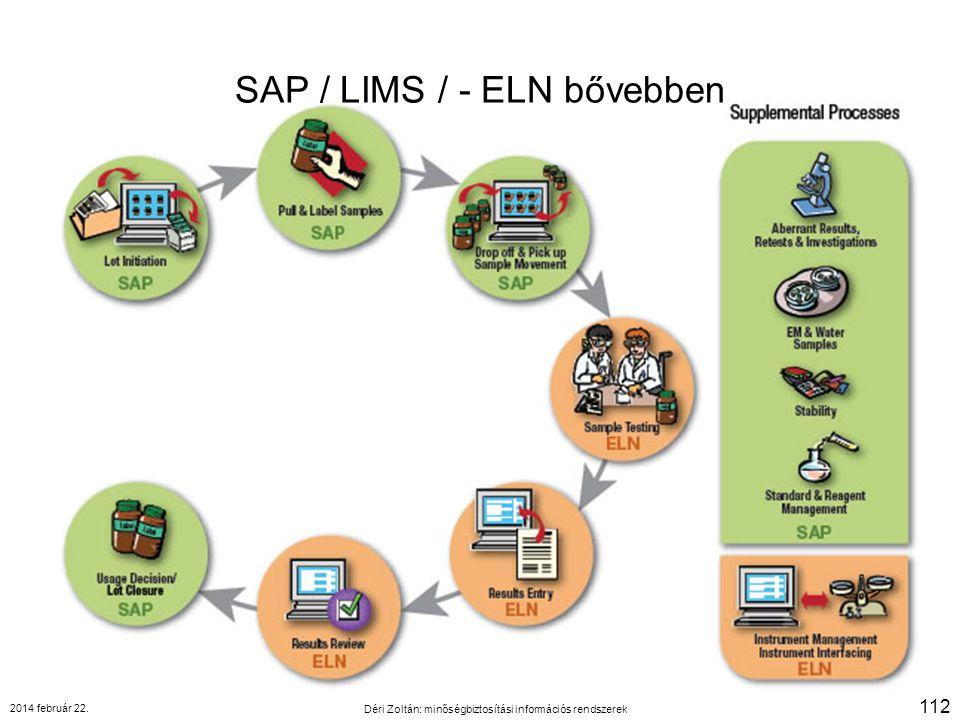 SAP / LIMS / - ELN bővebben