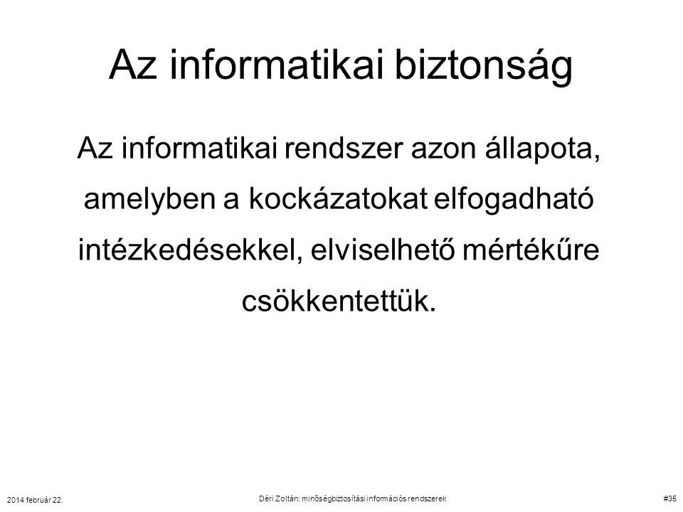 Az informatikai biztonság