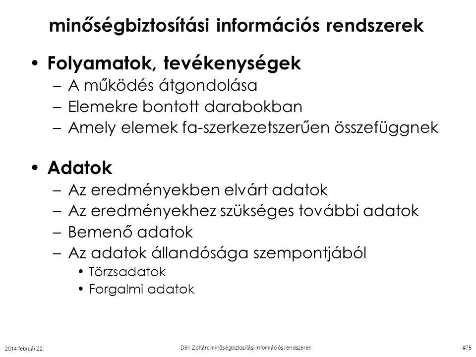 minőségbiztosítási információs rendszerek