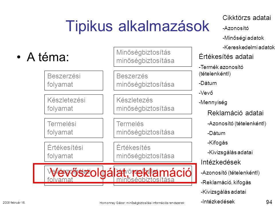 Homonnay Gábor: minőségbiztosítási információs rendszerek