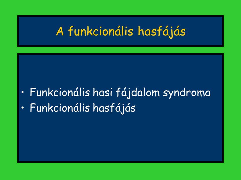 A funkcionális hasfájás