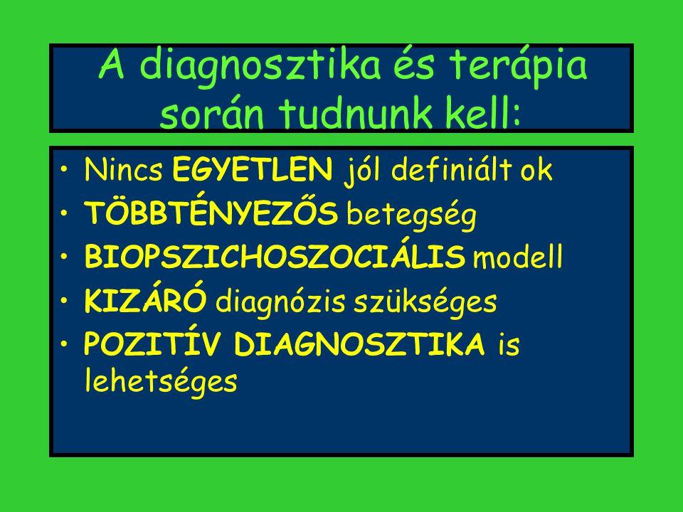 A diagnosztika és terápia során tudnunk kell: