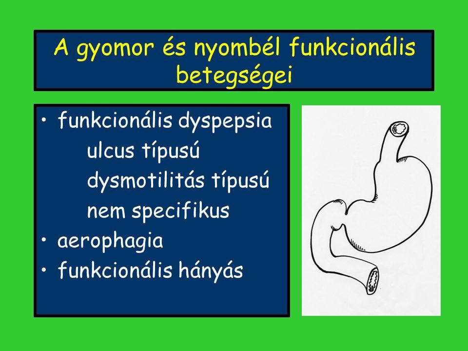 A gyomor és nyombél funkcionális betegségei