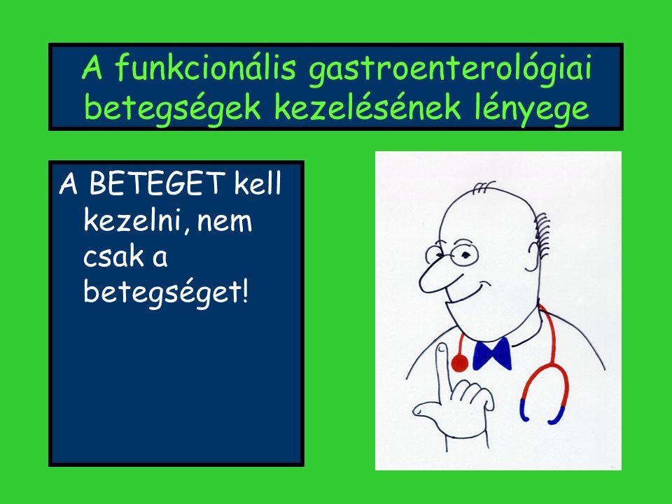 A funkcionális gastroenterológiai betegségek kezelésének lényege
