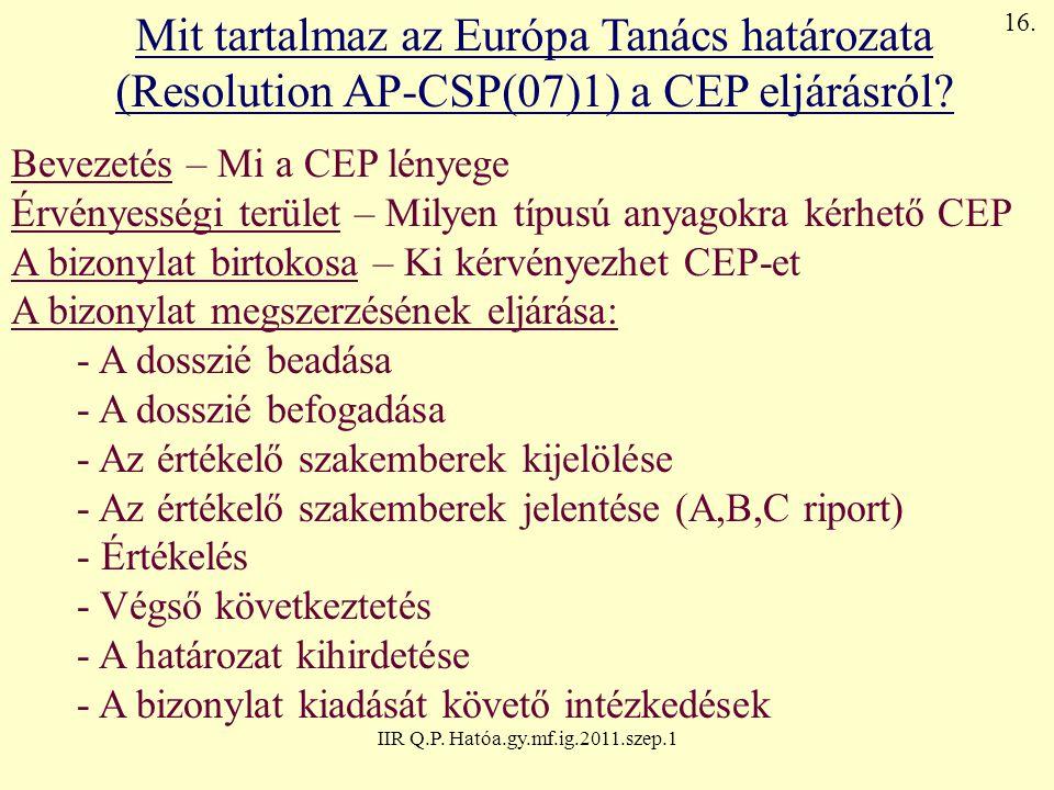 Mit tartalmaz az Európa Tanács határozata
