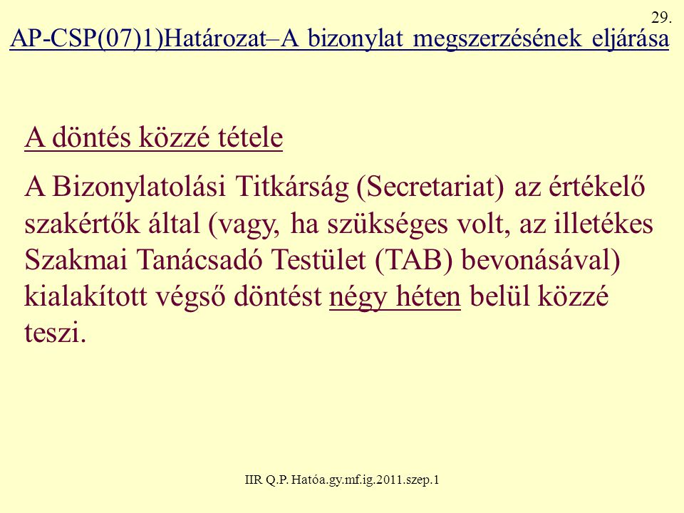 IIR Q.P. Hatóa.gy.mf.ig.2011.szep.1