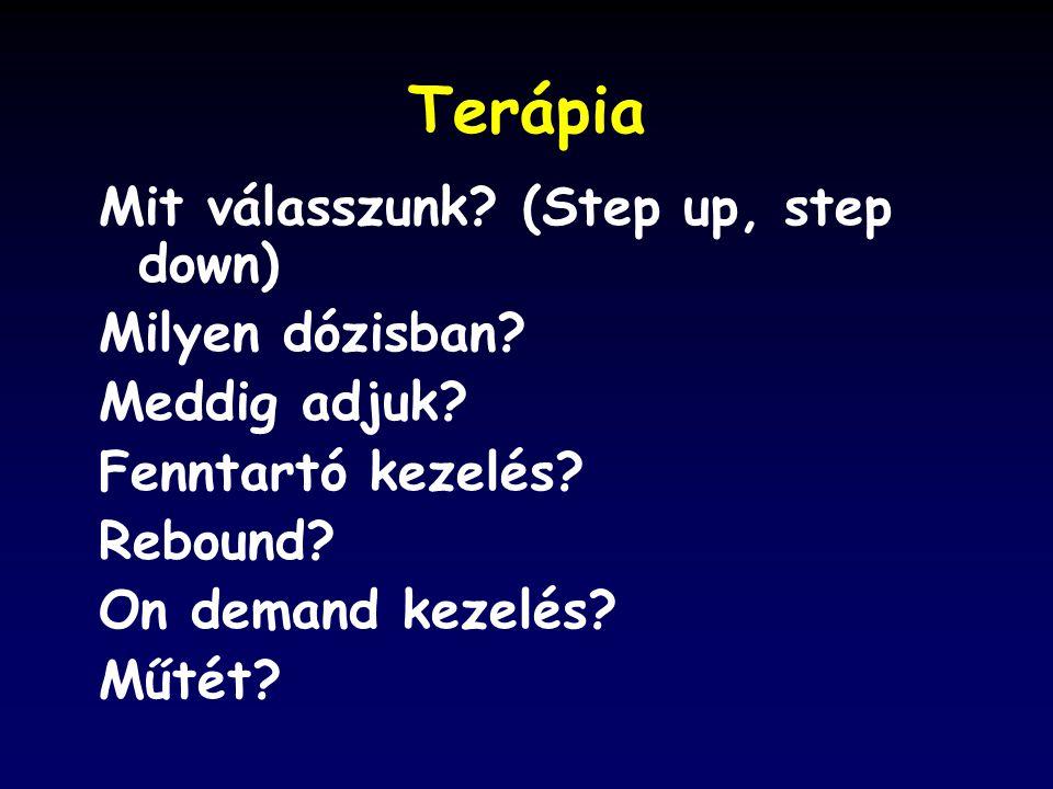 Terápia Mit válasszunk (Step up, step down) Milyen dózisban