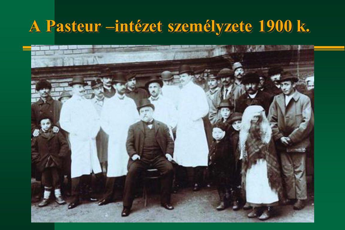 A Pasteur –intézet személyzete 1900 k.