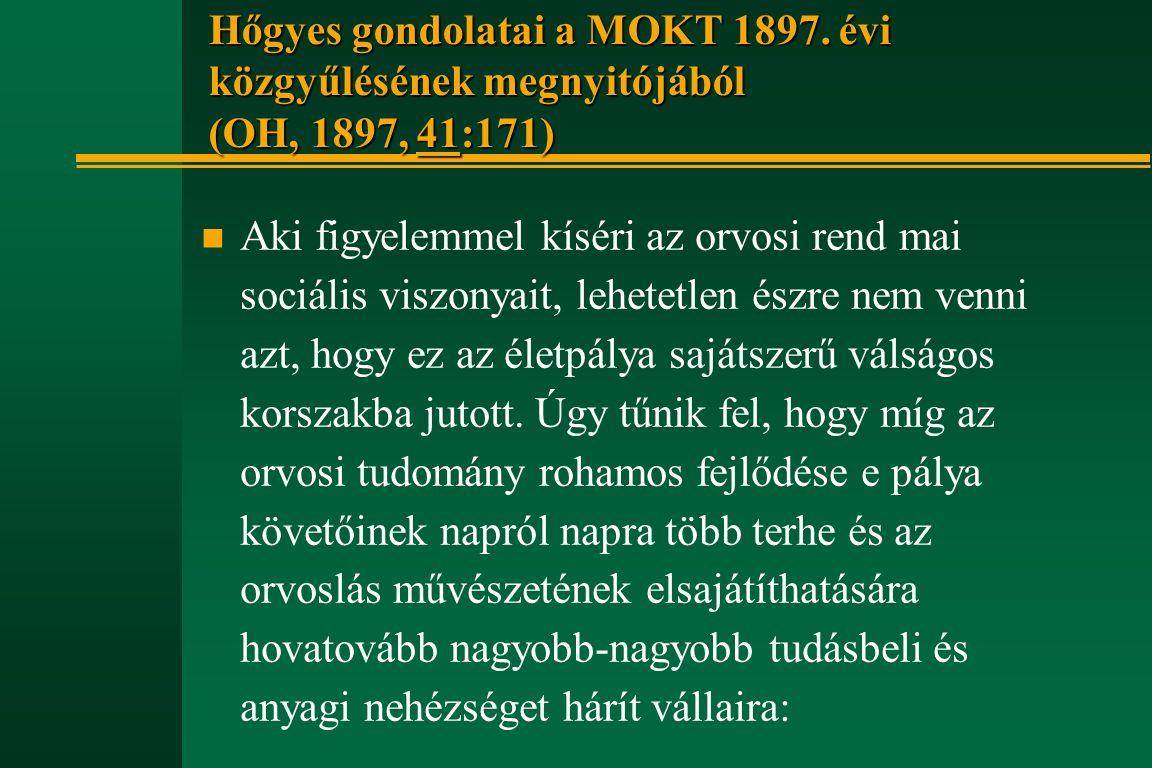 Hőgyes gondolatai a MOKT 1897