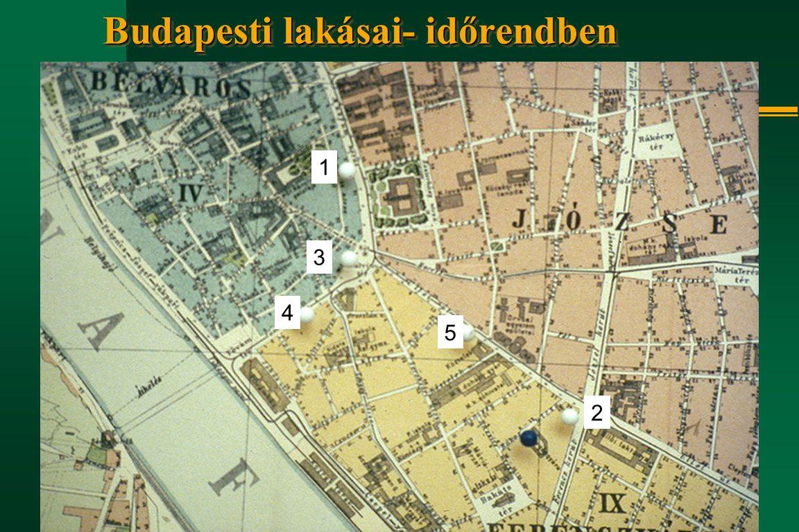 Budapesti lakásai- időrendben