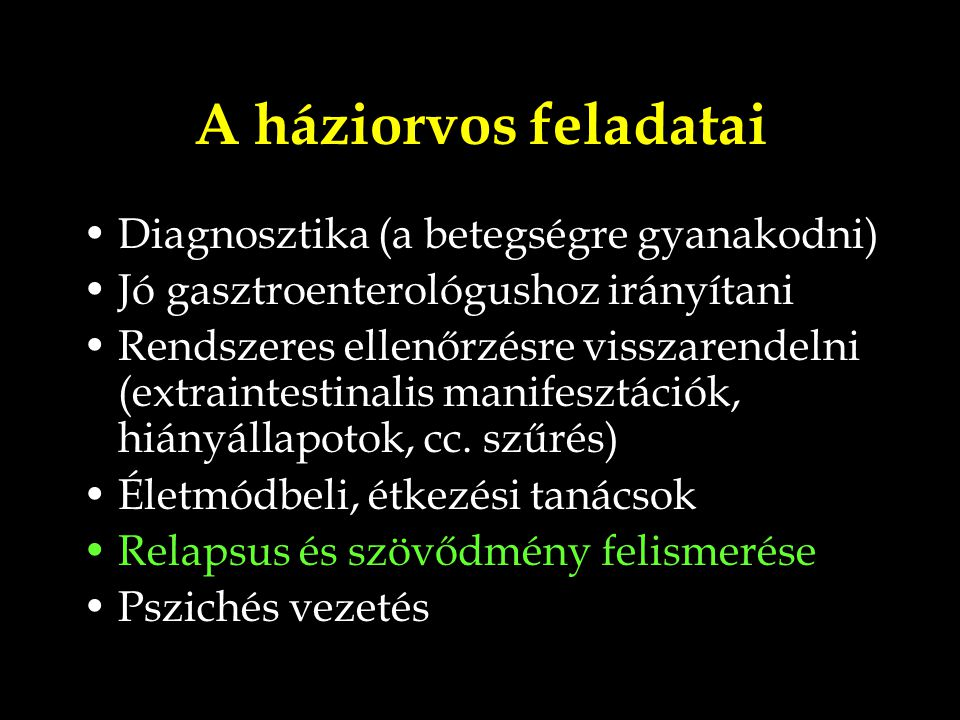 A háziorvos feladatai Diagnosztika (a betegségre gyanakodni)