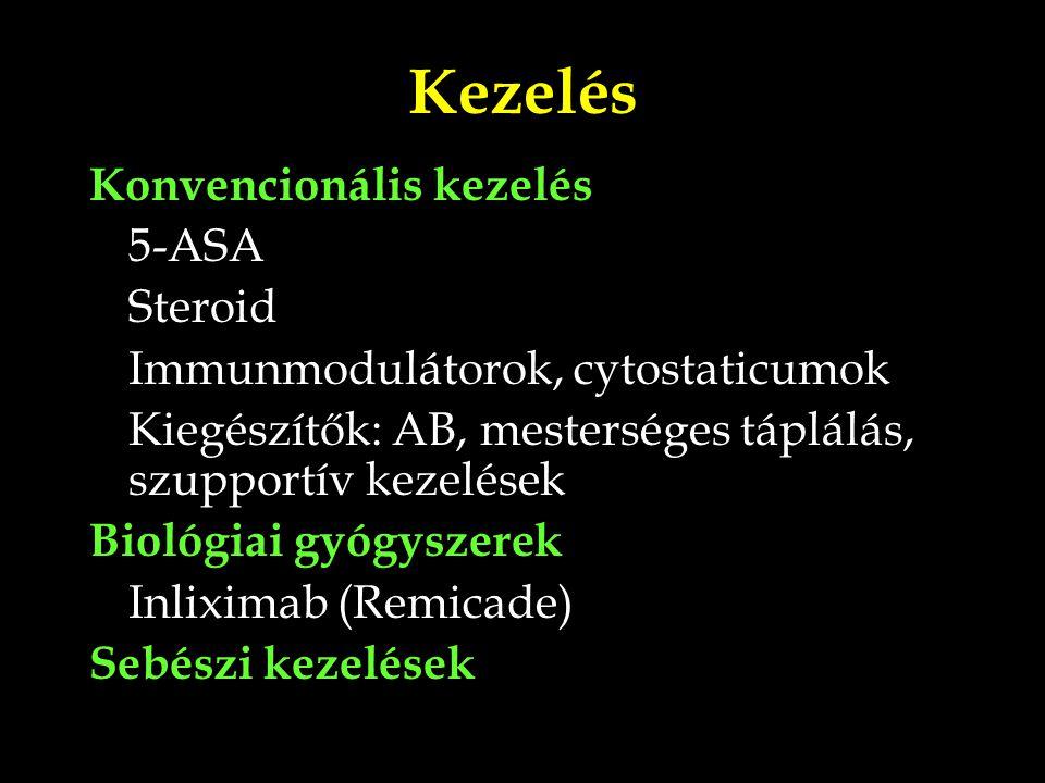 Kezelés Konvencionális kezelés 5-ASA Steroid