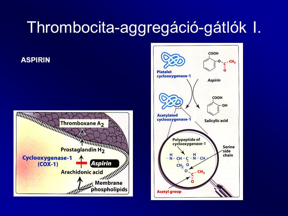 Thrombocita-aggregáció-gátlók I.