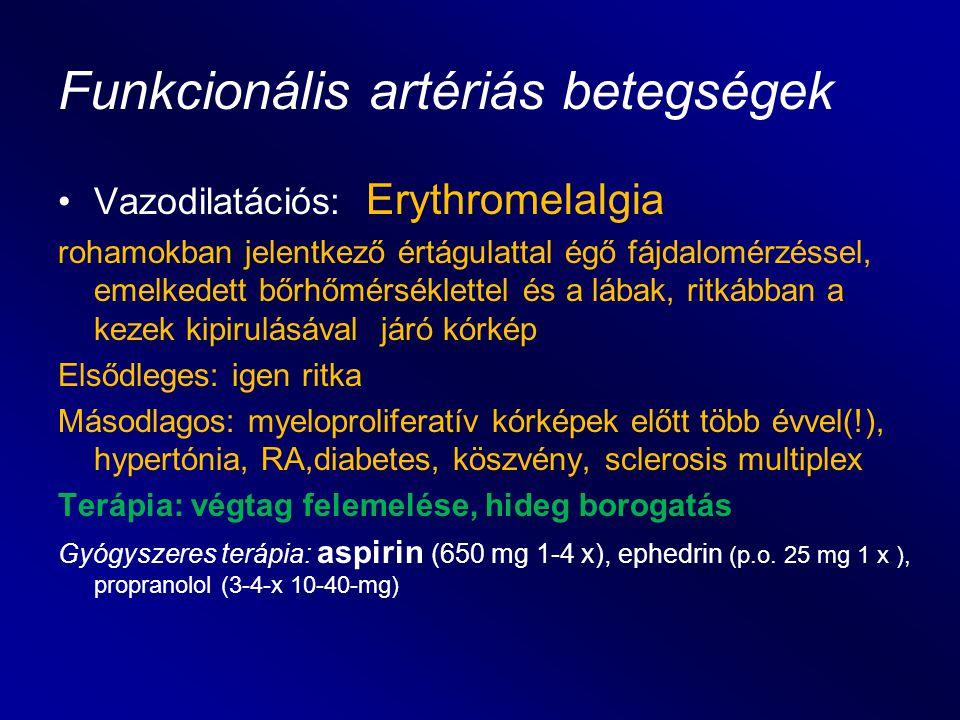 Funkcionális artériás betegségek