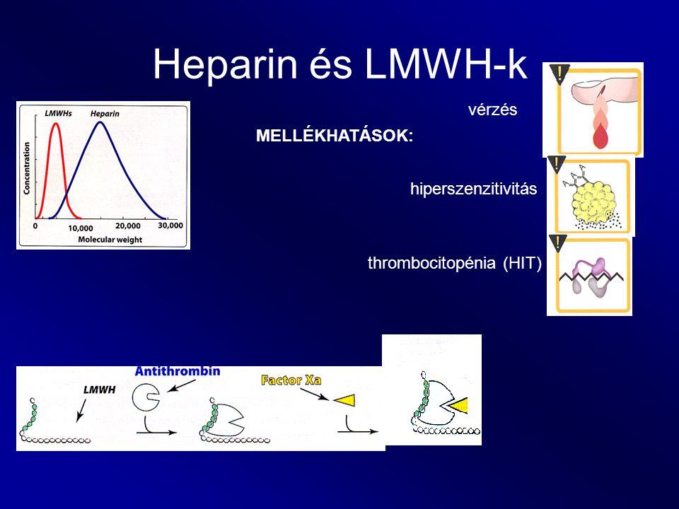 Heparin és LMWH-k vérzés MELLÉKHATÁSOK: hiperszenzitivitás