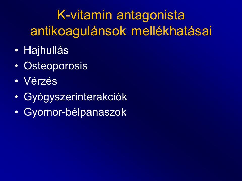 K-vitamin antagonista antikoagulánsok mellékhatásai