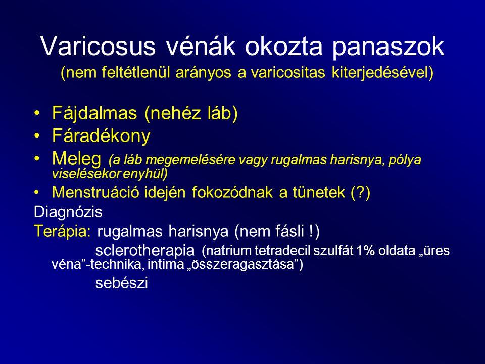 Varicosus vénák okozta panaszok