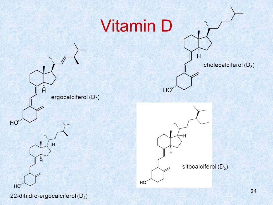 Vitamin D cholecalciferol (D3) ergocalciferol (D2) sitocalciferol (D5)