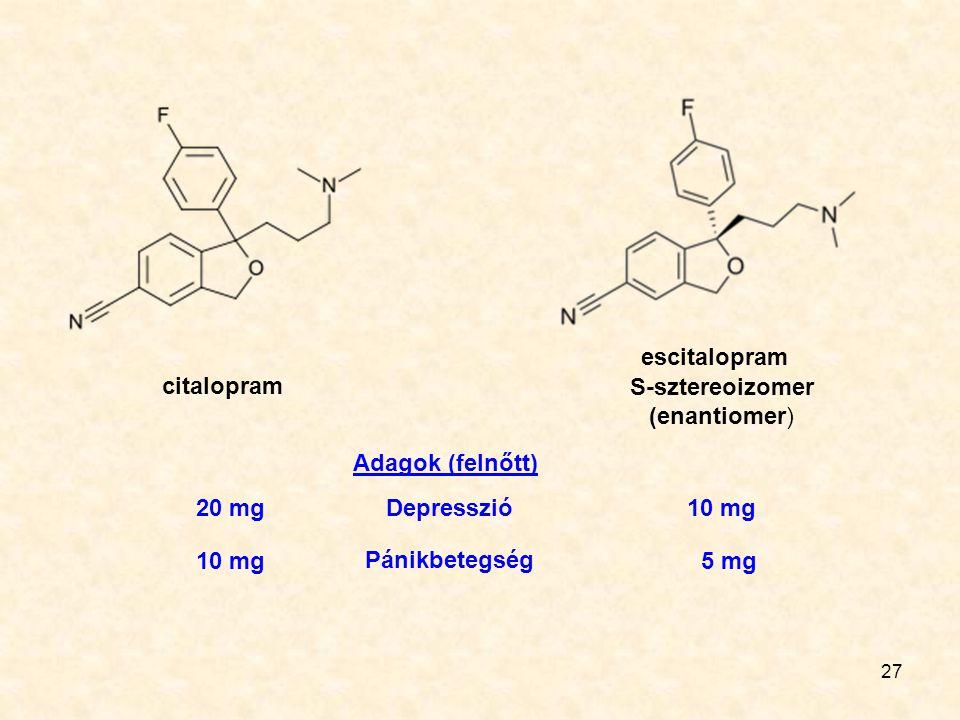 S-sztereoizomer (enantiomer)