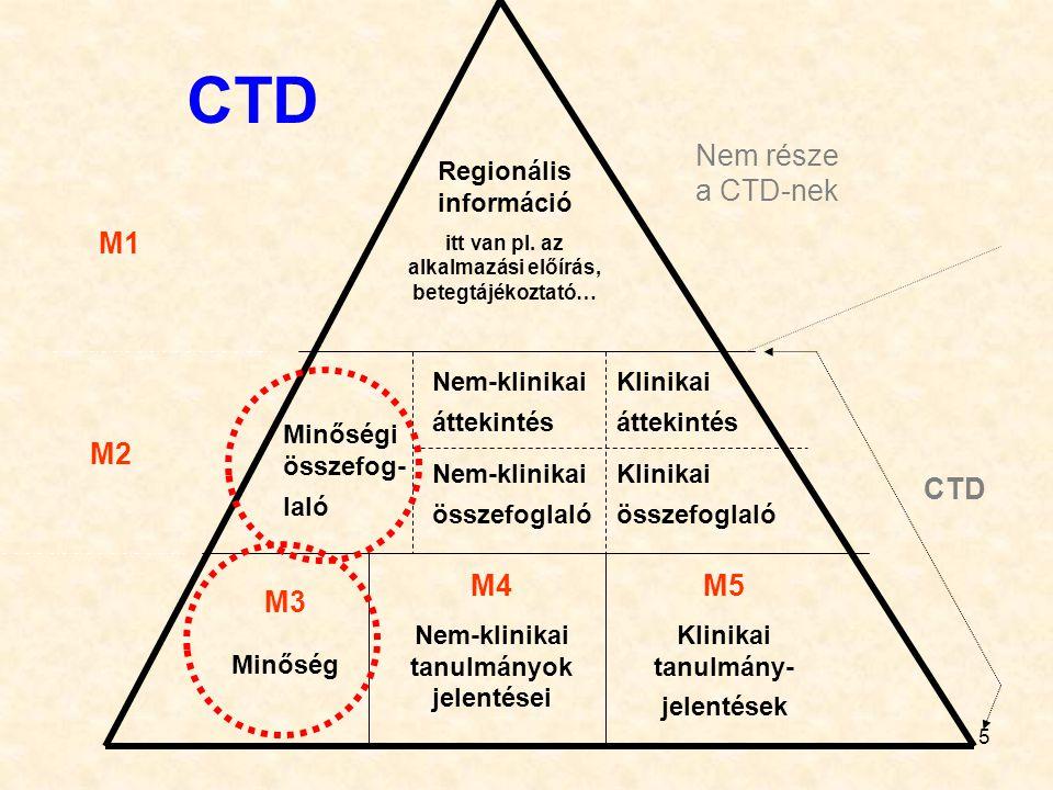 CTD Nem része a CTD-nek M1 M2 CTD M4 M5 M3 Regionális információ