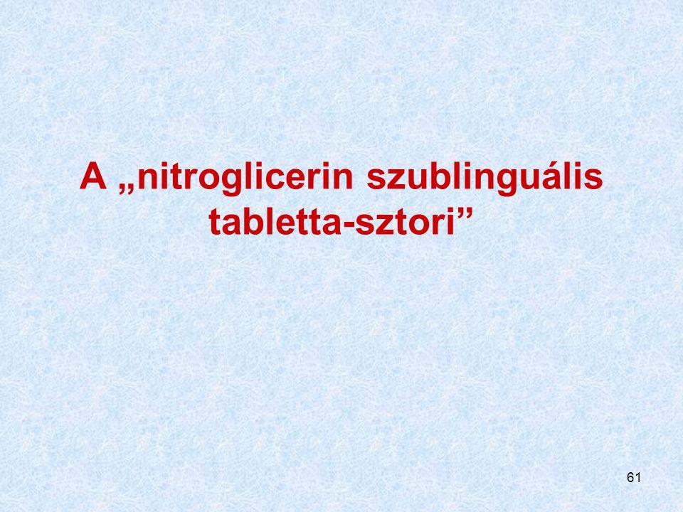 "A ""nitroglicerin szublinguális tabletta-sztori"