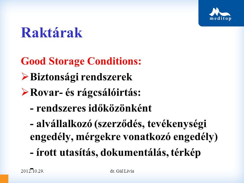 Raktárak Good Storage Conditions: Biztonsági rendszerek