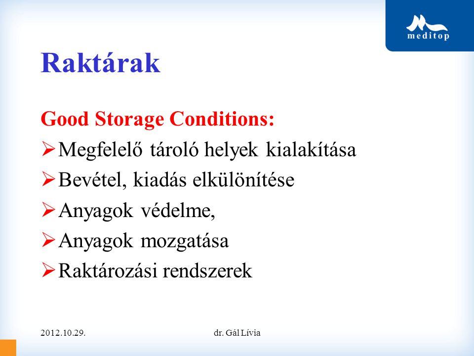 Raktárak Good Storage Conditions: Megfelelő tároló helyek kialakítása