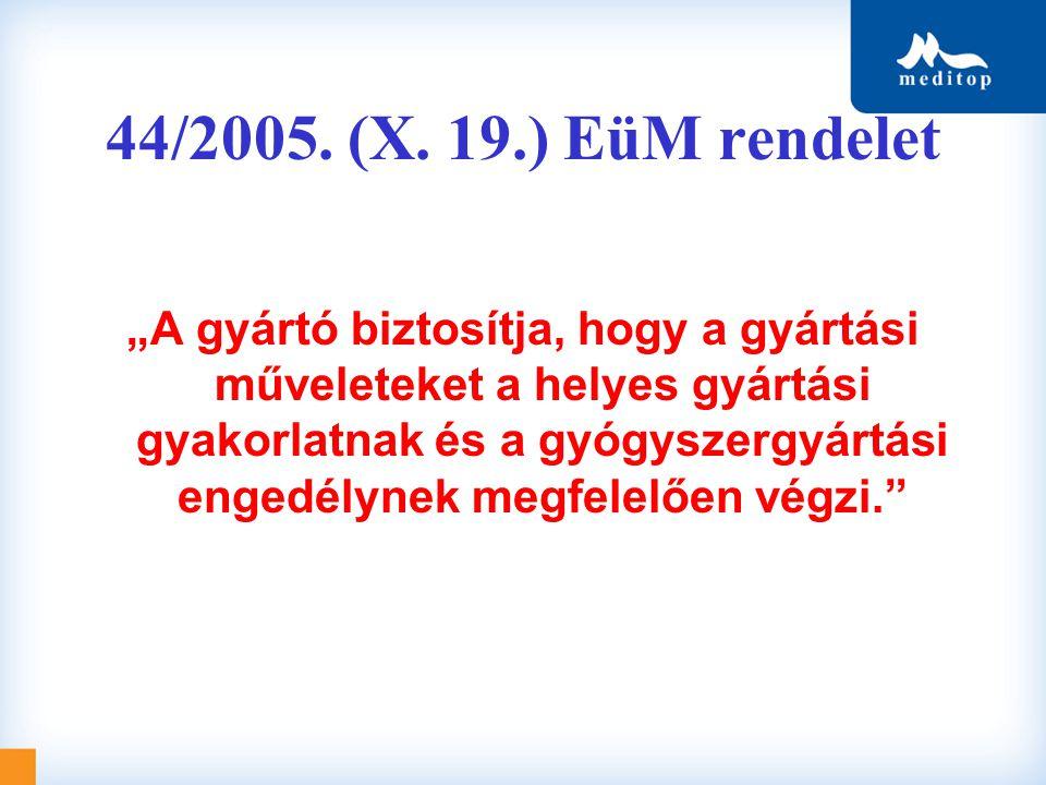 44/2005. (X. 19.) EüM rendelet